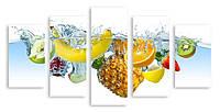 Модульная картина вода и фрукты