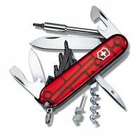 Нож Victorinox CyberTool 29 1.7605.T полупрозрачный красный, фото 1