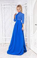 Платье в пол верх горошек, 3 цвета    рт 2104-159