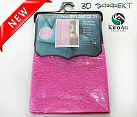 Виниловая занавеска для душа с эффектом 3Д Oumeiya Premium 180х180 (розовая), фото 1