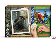Набор для творчества Картина-репродукция Декупаж Медвежата, Danko Toys, КД-03