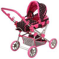 Коляска-трансформер для куклы Melogo 9368/017 Black / Pink