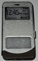 Книжка Xiaomi Redmi  Note 4X Wave Cover серебро