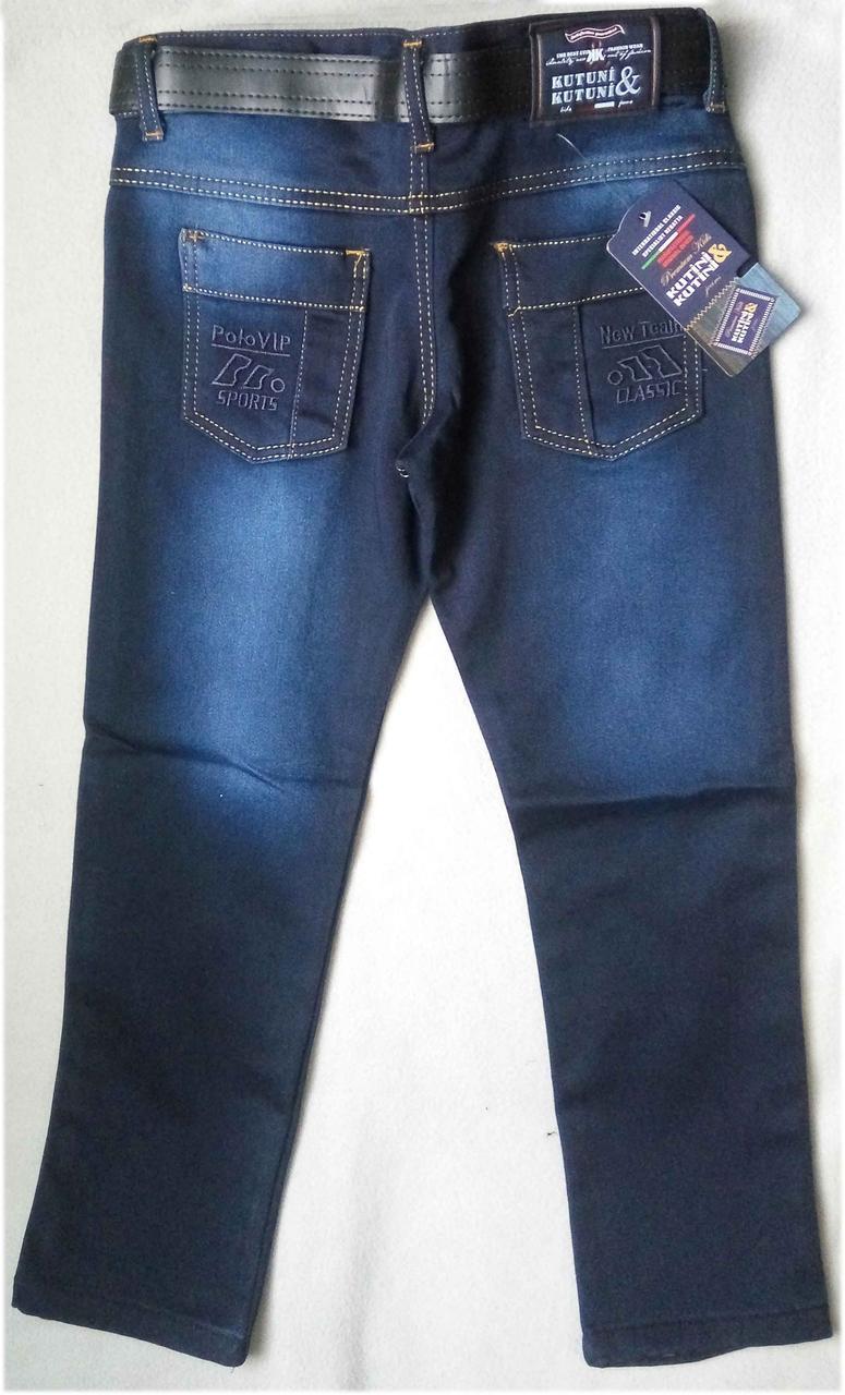 Утепленные детские джинсы на флисе для мальчиков 8-12 лет Турция