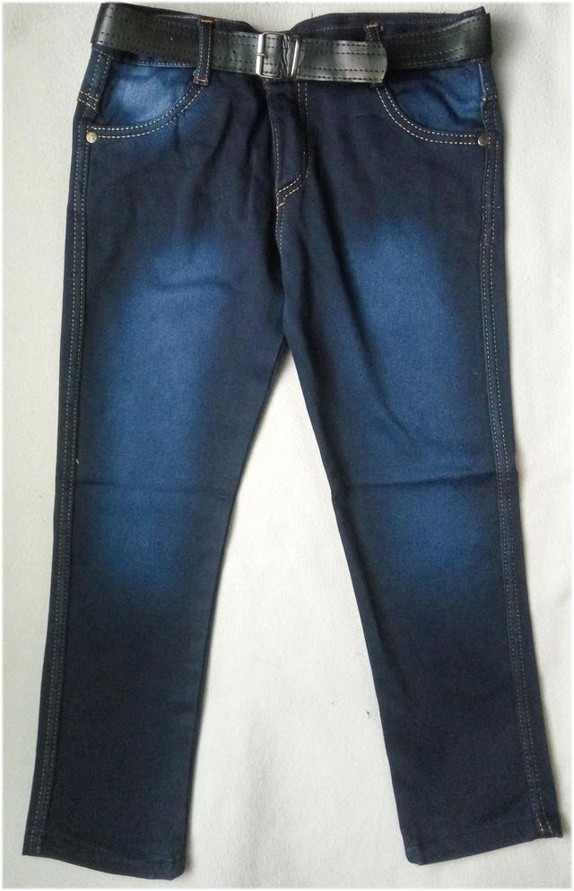 Утепленные детские джинсы на флисе для мальчиков 8-12 лет Турция оптом