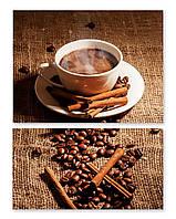 Модульная картина горячий кофе
