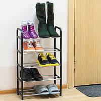 Этажерка для обуви 5-ти секционная, цвет: черный