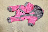 Одежда для собачки Костюмчик розовый с серым