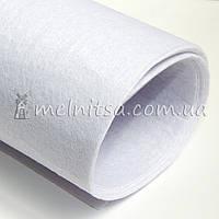 Фетр жесткий 1 мм, лист 50х40 см, белый (Китай)