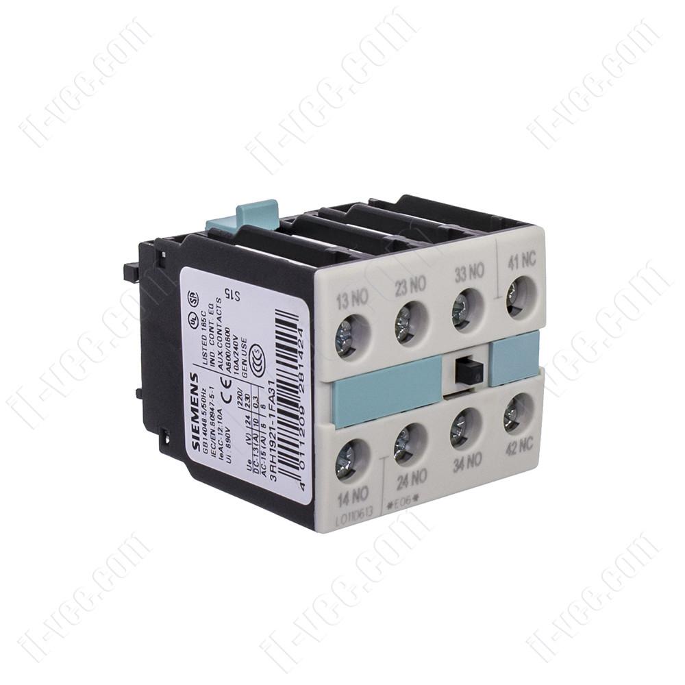 Блок вспомогательных контактов 3RH1921-1FA31 Siemens, 3NO+1NC