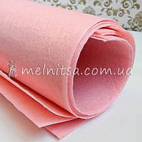 Фетр жесткий 1 мм, лист 50х40 см, светло-розовый (Китай)