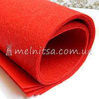 Фетр жесткий 1 мм, лист 50х40 см, красный (Китай)
