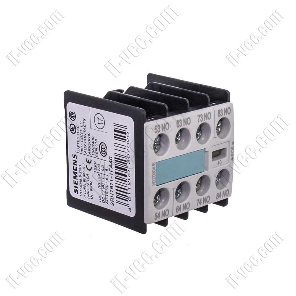 Блок допоміжних контактів 3RH1911-1FA40 Siemens, 4NO