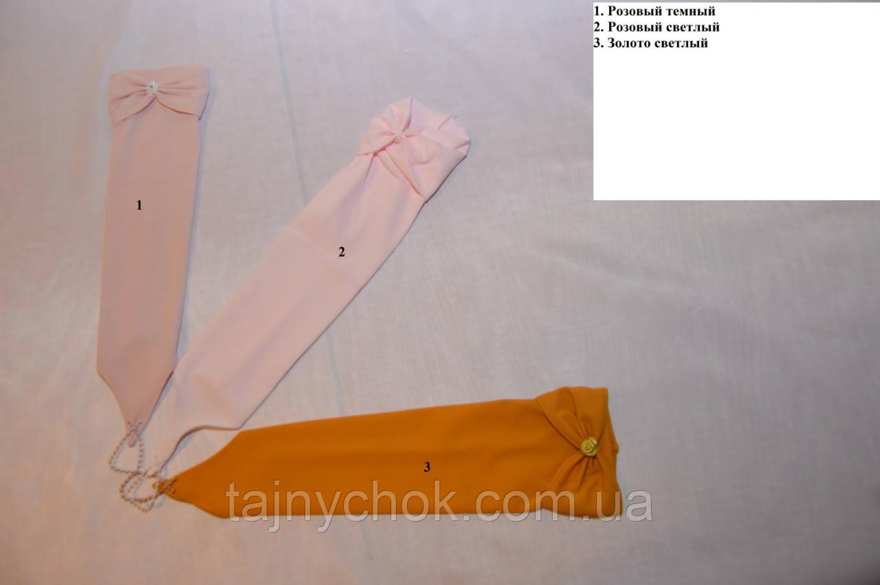Стрейчевые перчатки для девочек