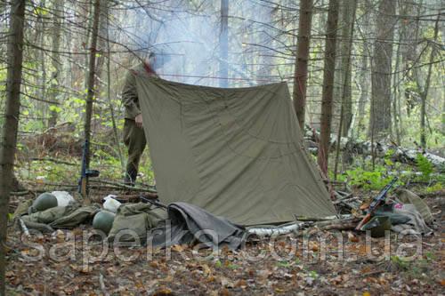 Плащ-палатка армейская б/у 1 сорт . Оптом
