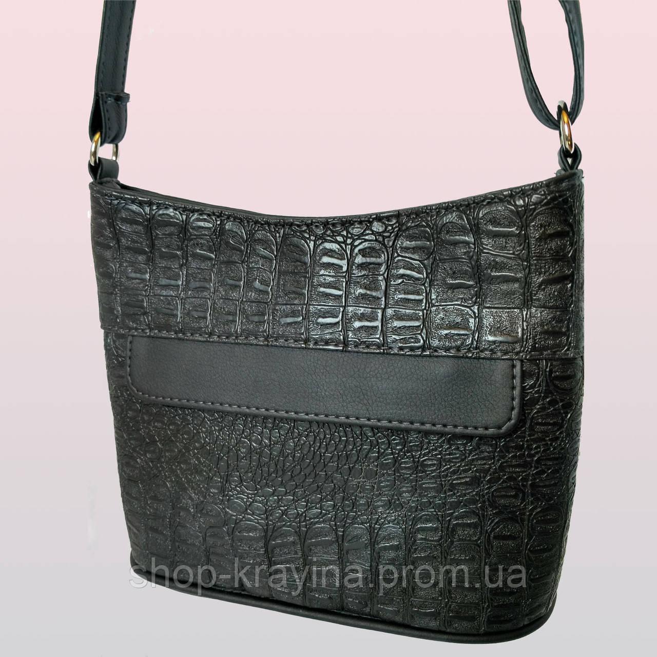 Cумка black aligator 20*23*6 см