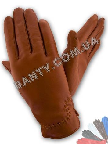 Женские перчатки на шерстяной подкладке модель 369, фото 2