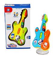 Музыкальная гитара 855-9A  свет, звуки животных, мелодии, в коробке