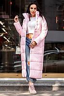 Длинная стильная женская куртка на кнопках демисезон зима