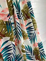 Модные шторы с разноцветными листьями