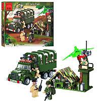 Конструктор BRICK 811 Военная машина, блокпост,