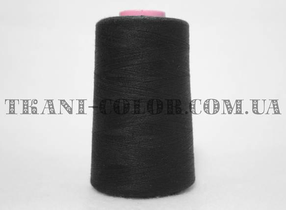 Нитка швейная 40/2 черная 4000 ярдов, фото 2