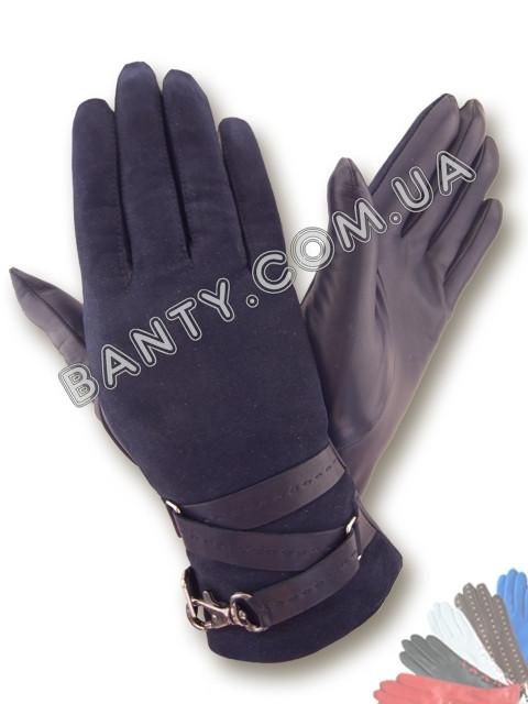 Женские перчатки на шерстяной подкладке модель 412