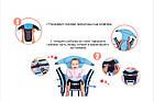 Слинг Рюкзак - Кенгуру Удобный Универсальный #3 Синий с бежевым, фото 6