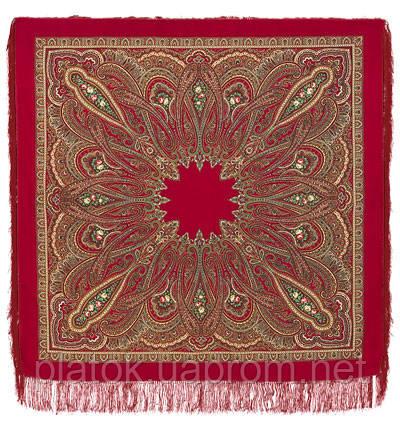 Самарканд в лоскуте 998-5-, павлопосадский платок (лоскут) шерстяной с оверлок (подрубка) БЕЗ БАХРОМЫ