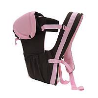 Слинг Рюкзак - Кенгуру Удобный Универсальный #3 Коричневый с розовым, фото 1