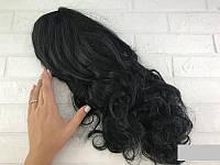 Парик карнавальный волнистые черные волосы