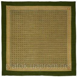 Эхо в лоскуте 606-10-, павлопосадский платок (лоскут) шерстяной  с оверлок (подрубка) БЕЗ БАХРОМЫ
