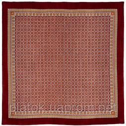 Эхо в лоскуте 606-6-, павлопосадский платок (лоскут) шерстяной  с оверлок (подрубка) БЕЗ БАХРОМЫ