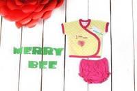 "Комплект для девочки ""Сердце"" (распашонка,  трусики), Merry Bee"