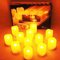 Праздничный Светильник Статуэтка Новогодняя Свеча Набор Свечей для Атмосферы Нового Года Рождества 12 шт