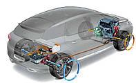 Набор для электромобиля или гибрида 5кВт водяное охлаждение с АКБ LiFePo4 72V100AH