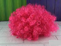 Парик карнавальный Клоунский парик малиновый