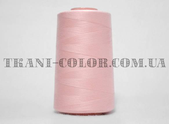 Нитка швейная 40/2 светло-розовая 4000 ярдов, фото 2