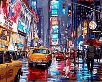 Картина раскраска по цифрам Таймс-сквер. Нью-Йорк