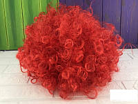 Карнавальный парик Клоуна афро красный