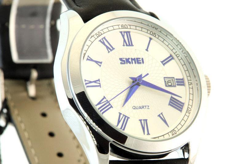 Мужские наручные часы Skmei 9076 черные с белым