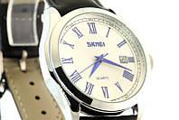 Мужские наручные часы Skmei 9076 черные с белым, фото 1