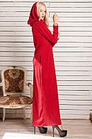 Платье длинное 44-46, красный