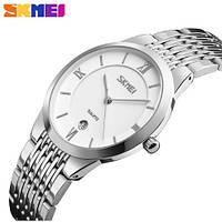 Мужские наручные часы Skmei 9139 белые с серебристым, фото 1