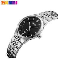 Мужские наручные часы Skmei 9139 серебристый с черным, фото 1