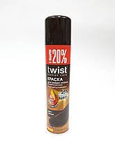 Краска для замши, нубука, велюра и текстиля TWIST Fashion Черная