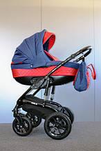 Универсальная коляска 2 в 1 Ajax Group Viola Sunset красный+темно синий (81/13)