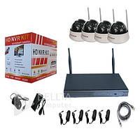 Комплект видеонаблюдения на 4 камеры FS-3888W10, Wi-Fi IP-камеры, 100 м, CMOS, 24 W, Windows, Комплект видеонаблюдения