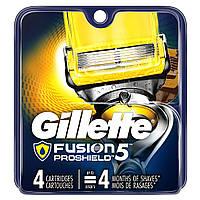 Кассеты лезвия картриджи GILLETTE Fusion ProShield 4шт. оригинал из США