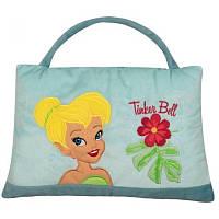 Детская мягкая сумочка подушка 2 в 1 голубая Феи 30х40 см 15083